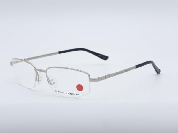 PORSCHE DESIGN 8010 Silber Halbrand Herren Brille Luxus moderne Rahmen GrauGlasses