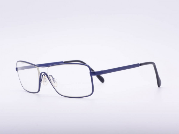 Theo eyewear blaue Herren Metall Brille Schild Fassung Belgien GrauGlasses