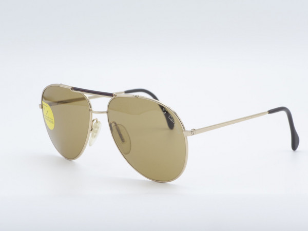 ZEISS Golden 9222A Pilot Large Sunglasses Men Luxury Eyewear Germany