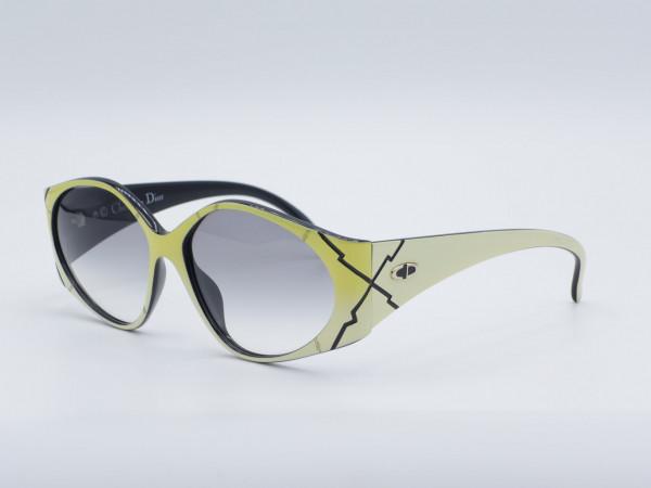 DIOR 2348 Yellow White Woman Sunglasses Vintage 90s Frame Ladies GrauGlasses