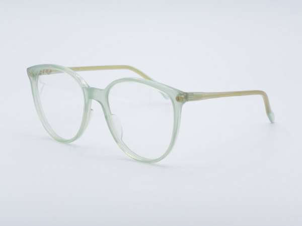 ZOLLITSCH 800 Panto Woman Glasses 80s Transparent Green Frame Berlin GrauGlasses