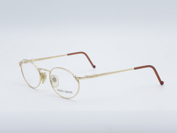 Giorgio Armani Luxus Herren Brille Goldene Modernen Fassung Modell 263 GrauGlasses