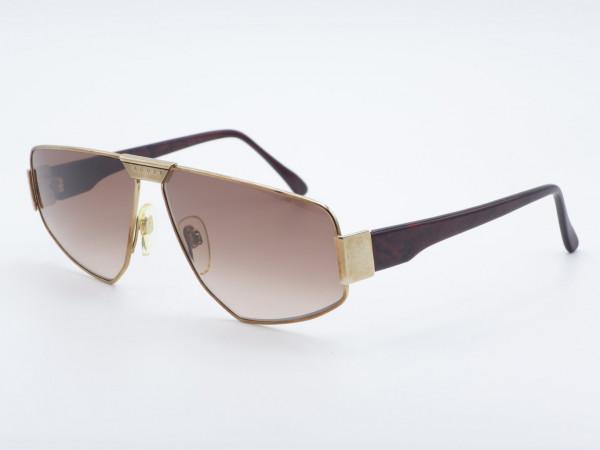 JAGUAR 719 Frau Männer Kupfer Vintage Sonnenbrille Verlaufsgläser Metall Rahmen 90er GrauGlasses