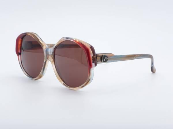 Pierre Cardin 213 Butterfly Oversized Damen Sonnenbrille 80er Jahre Quadratisch Frauen Rahmen