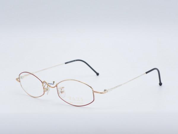 Taxi Casanova TAM4 rectangle woman glasses red golden metal frame GrauGlasses