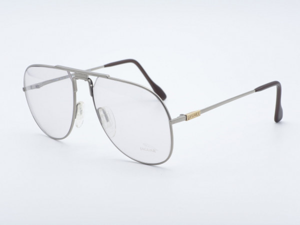 JAGUAR 349 Aviator Vintage Glasses Silver Men Metal Frame Oversized GrauGlasses