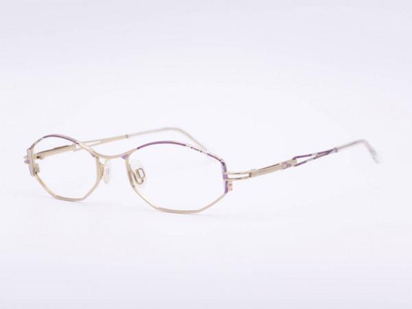 Cazal women glasses purple silver gold metal frame ladies rectangle model 426