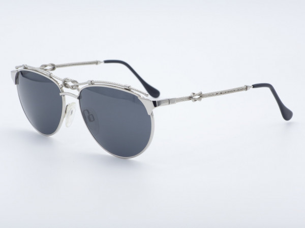ZOLLITSCH 8598 Silber Herren Sonnenbrille Metall Rahmen Segler Knoten Navy Marine GrauGlasses