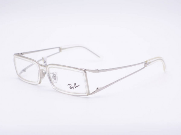 Ray-Ban silver rectangular women glasses RB6144 stable metal frame