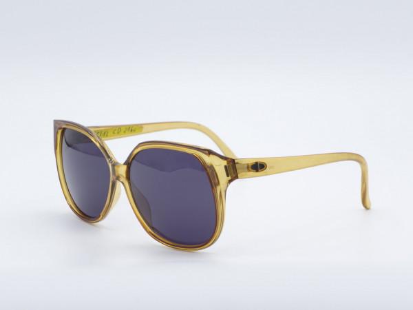 Christian DIOR 2160 Quadratische Vintage-Sonnenbrille Männer Frau Bernstein Frame GrauGlasses