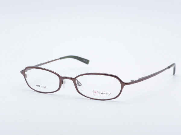 Yoshino oval violet titanium glasses, timeless luxury frame in shimmering purple, nickel-free Made in Japan