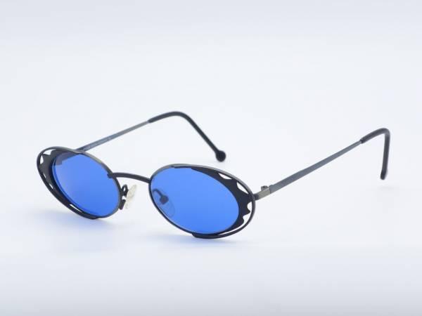 IMAGO SOLARIS Black oval Women Sunglasses high end Frame Ornament Grau Glasses