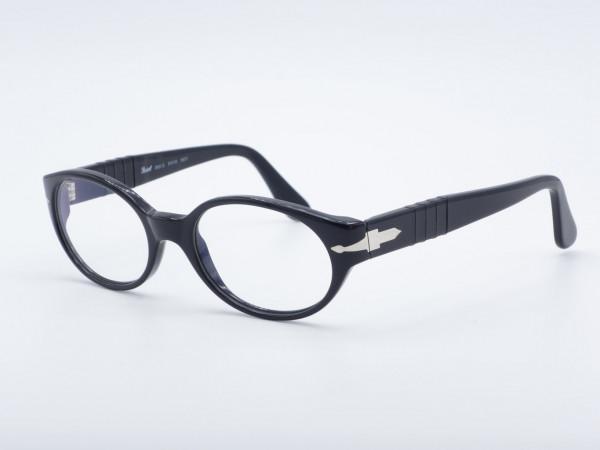 Persol Ratti 2520 ovale schwarze Damen Brille zeitloser Frauen Rahmen GrauGlasses