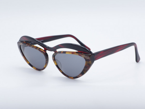 Robert La Roche S99 Cateye Damen Sonnenbrille 90er Jahre Vintage rot einzigartige Brille GrauGlasses